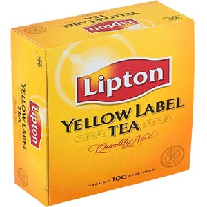 Чай Lipton Yellow Label 100 пакетиков