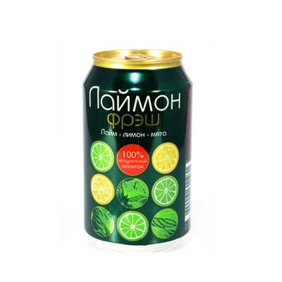 Напиток газированный Лаймон фрэш 0,33мл железная банка.